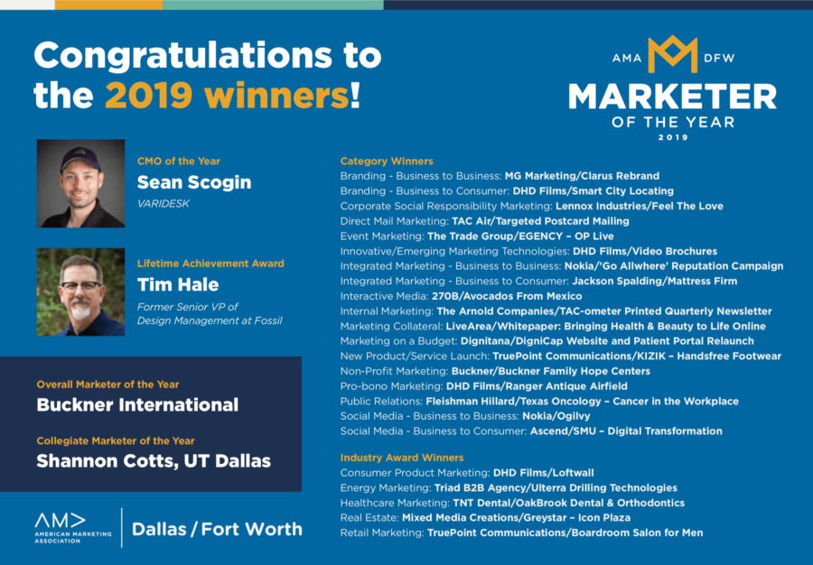 congrats to 2019 winners